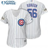 Maglia Baseball Donna Chicago Cubs 2017 Postseason 56 Hector Rondon Bianco Cool Base