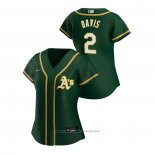 Maglia Baseball Donna Oakland Athletics Khris Davis 2020 Replica Alternato Verde2