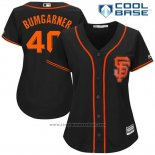 Maglia Baseball Donna San Francisco Giants 40 Madison Bumgarner Nero 2017 Cool Base