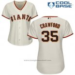 Maglia Baseball Donna San Francisco Giants San Francisco Brandon Crawford Cool Base Crema