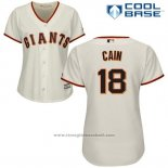 Maglia Baseball Donna San Francisco Giants San Francisco Matt Cain Cool Base Crema