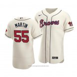 Maglia Baseball Uomo Atlanta Braves Chris Martin Autentico Alternato Crema