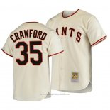 Maglia Baseball Uomo San Francisco Giants Brandon Crawford Autentico Cooperstown Collection Primera 1954 Crema