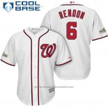 Maglia Baseball Uomo Washington Nationals 2017 Postseason Anthony Rendon Bianco Cool Base