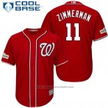 Maglia Baseball Uomo Washington Nationals 2017 Postseason Ryan Zimmerman Rosso Cool Base