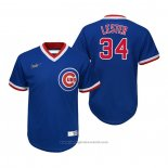 Maglia Baseball Bambino Chicago Cubs Jon Lester Cooperstown Collection Road Blu