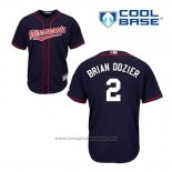 Maglia Baseball Uomo Minnesota Twins Brian Dozier 2 Blu Alternato Cool Base