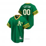 Maglia Baseball Uomo Oakland Athletics Personalizzate Cooperstown Collection Road Verde