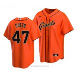 Maglia Baseball Uomo San Francisco Giants Johnny Cueto Replica Alternato 2020 Arancione