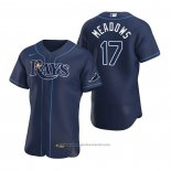 Maglia Baseball Uomo Tampa Bay Rays Austin Meadows Autentico Alternato 2020 Blu