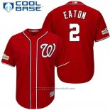 Maglia Baseball Uomo Washington Nationals 2017 Postseason Adam Eaton Rosso Cool Base