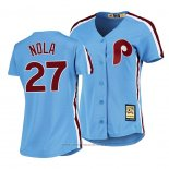 Maglia Baseball Donna Philadelphia Phillies Aaron Nola Cooperstown Collection Road Blu