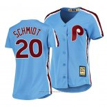 Maglia Baseball Donna Philadelphia Phillies Mike Schmidt Cooperstown Collection Road Blu