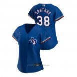Maglia Baseball Donna Texas Rangers Danny Santana 2020 Replica Alternato Blu