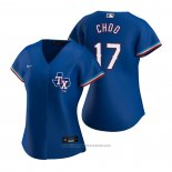 Maglia Baseball Donna Texas Rangers Shin-Soo Choo Replica Alternato Blu