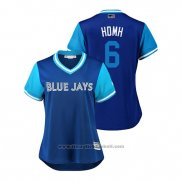 Maglia Baseball Donna Toronto Blue Jays Marcus Stroman 2018 LLWS Players Weekend Hdmh Blu