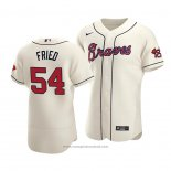 Maglia Baseball Uomo Atlanta Braves Max Fried Autentico Alternato Crema