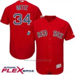 Maglia Baseball Uomo Boston Red Sox 34 David Ortiz Rosso Flex Base Autentico On Field