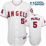 Maglia Baseball Uomo Los Angeles Angels Bianco Andre Ethier Cool Base Giocatore