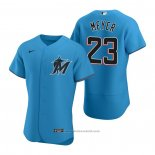 Maglia Baseball Uomo Miami Marlins Max Meyer Autentico Alternato Blu