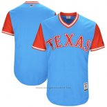 Maglia Baseball Uomo Texas Rangers Players Weekend 2017 Personalizzate Blu