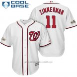 Maglia Baseball Uomo Washington Nationals 2017 Postseason Ryan Zimmerman Bianco Cool Base