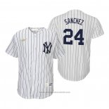 Maglia Baseball Bambino New York Yankees Gary Sanchez Cooperstown Collection Primera Bianco