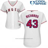 Maglia Baseball Donna Los Angeles Angels Garrett Richards Bianco Cool Base