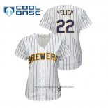 Maglia Baseball Donna Milwaukee Brewers Christian Yelich Cool Base Home Bianco