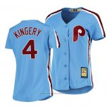 Maglia Baseball Donna Philadelphia Phillies Scott Kingery Cooperstown Collection Road Blu