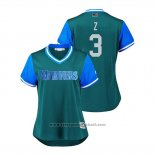 Maglia Baseball Donna Seattle Mariners Mike Zunino 2018 LLWS Players Weekend Z Verde