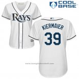 Maglia Baseball Donna Tampa Bay Rays Kevin Kiermaier Bianco Autentico Collection Cool Base