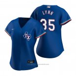 Maglia Baseball Donna Texas Rangers Lance Lynn Replica Alternato Blu
