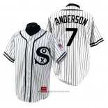 Maglia Baseball Uomo Chicago White Sox Tim Anderson 1990 Turn Back The Clock Bianco