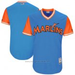 Maglia Baseball Uomo Miami Marlins Players Weekend 2017 Personalizzate Blu