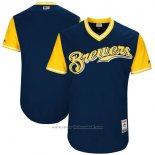 Maglia Baseball Uomo Milwaukee Brewers Players Weekend 2017 Personalizzate Blu