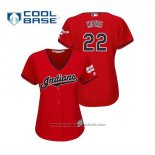 Maglia Baseball Donna Cleveland Indians Jason Kipnis 2019 All Star Patch Cool Base Rosso
