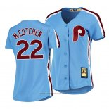Maglia Baseball Donna Philadelphia Phillies Andrew Mccutchen Cooperstown Collection Road Blu