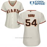 Maglia Baseball Donna San Francisco Giants San Francisco Sergio Romo Cool Base Crema