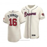 Maglia Baseball Uomo Atlanta Braves Travis D'arnaud Autentico Alternato Crema