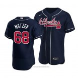 Maglia Baseball Uomo Atlanta Braves Tyler Matzek Autentico Alternato Blu