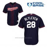 Maglia Baseball Uomo Minnesota Twins Bert Blyleven 28 Blu Alternato Cool Base