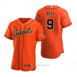 Maglia Baseball Uomo San Francisco Giants Brandon Belt Autentico Alternato Arancione