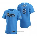 Maglia Baseball Uomo Tampa Bay Rays Brandon Lowe Alternato Autentico 2020 Blu