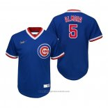 Maglia Baseball Bambino Chicago Cubs Albert Almora Jr. Cooperstown Collection Road Blu