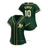Maglia Baseball Donna Oakland Athletics Marcus Semien 2020 Replica Alternato Verde2