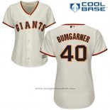 Maglia Baseball Donna San Francisco Giants San Francisco Madison Bumgarner Cool Base Crema