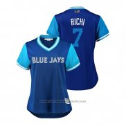 Maglia Baseball Donna Toronto Blue Jays Richard Urena 2018 LLWS Players Weekend Richi Blu