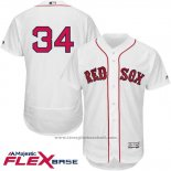 Maglia Baseball Uomo Boston Red Sox 34 David Ortiz Bianco Flex Base Autentico Collection