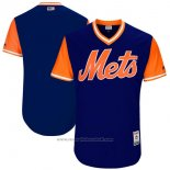 Maglia Baseball Uomo New York Mets Players Weekend 2017 Personalizzate Blu